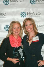 Astro Engineering and Manufacturing Inc. CEO and Partner Suzanne Ross (left), Innovation in Technology Business Owner of the Year, with NAWBO-MN President Heather Manley