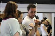 """Actor Alex O'Loughlin of """"Hawaii Five-0"""" demonstrates self defense during a workshop at the new Egan's Fit Body Boot Camp training center in Pucks Alley in Honolulu. Proceeds from the workshop benefit the  Kapiolani Medical Center Women & Children."""