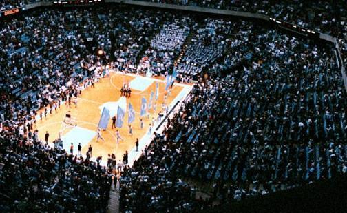 UNC's Dean Dome, pictured here, could be renovated or replaced.