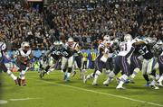 The Carolina Panthers defeated the New England Patriots 24-20 during Monday Night Football in Charlotte.