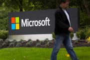 Seattle area's 5 biggest public companies -- As ranked by Forbes, Microsoft is biggest (and No. 41 worldwide), followed by Costco, Paccar, Amazon.com and Starbucks. (Pictured: Microsoft Corp.'s HQ sign in Redmond, Wash., across Lake Washington from Seattle.)