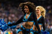 Carolina Panthers' TopCats cheerleaders perform for the crowd.