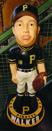 New this season for sale to baseball fans at PNC Park is an oversized Neil Walker bobblehead, priced at $500 at the team's Majestic Clubhouse Store at PNC Park.