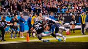 Carolina Panthers tight end Greg Olsen makes a touchdown catch.