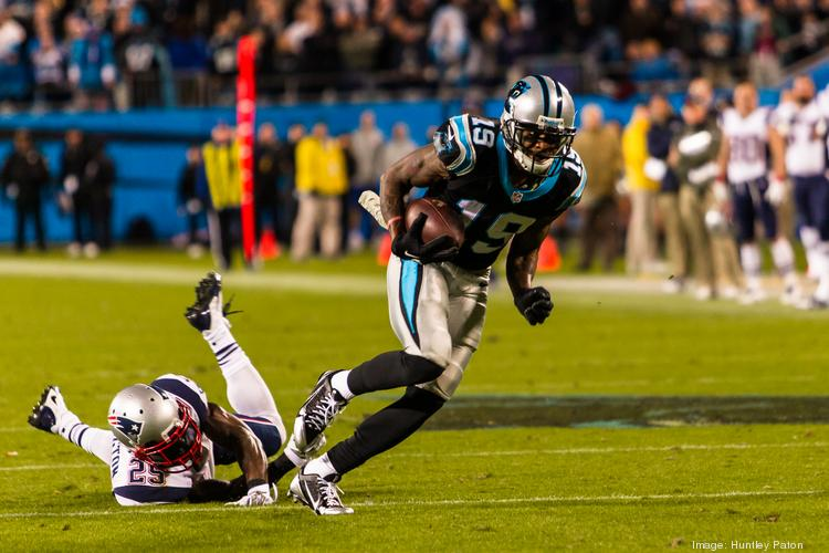 Carolina Panthers wide receiver Ted Ginn Jr. turns upfield for the winning touchdown against the New England Patriots in a Monday Night Football game at Bank of America Stadium on Nov. 18. The Panthers host Tampa Bay on Sunday.