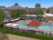 This rendering shows the planned pool area at the Veranda, a 236-unit apartment complex under development in Norton Commons.