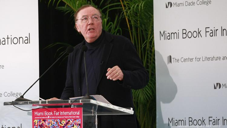 Author James Patterson, pictured here at the Miami Book Fair International in 2012, is granting $2,500 to Park Road Books in Charlotte.