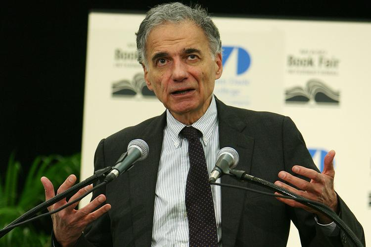 Activist Ralph Nader is pushing to increase the national minimum wage.