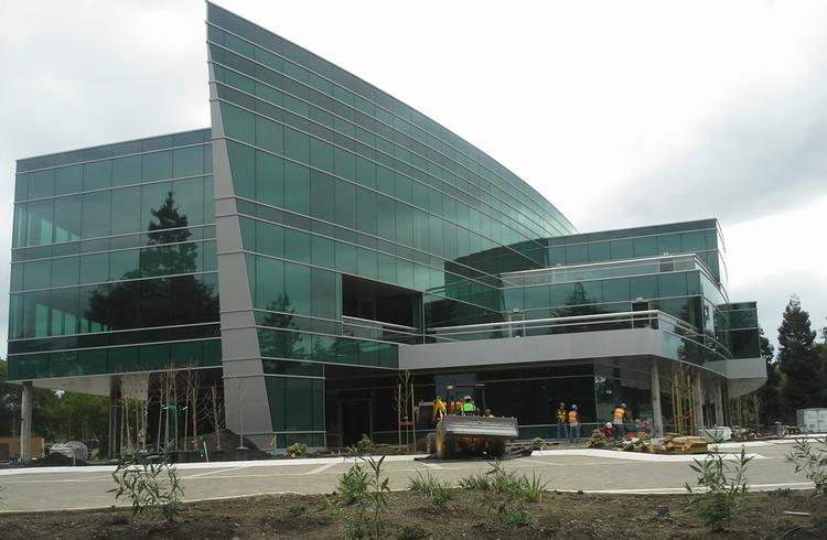 Mercedes benz r d unit takes peery arrillaga building in for Mercedes benz north america headquarters