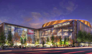 Artist's rendering of the proposed arena