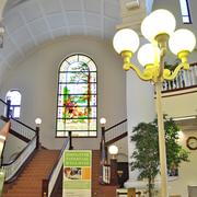 Generations transformed the former MoPac depot, including restoring the stained glass windows.