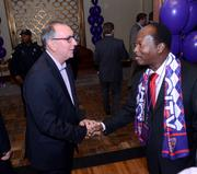Phil Rawlins greets Orlando City Commissioner Sam Ings.