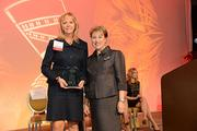 L to R: Forum of Executive Women Advancing Women Company Award Local Winner, SugarHouse Casino, represented by Patricia Tuck, VP, HR and Nila Betof, President, The Forum of Executive Women