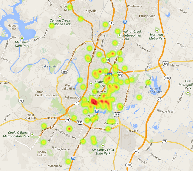 Google Fiber Austin Wish List In An Interactive Map