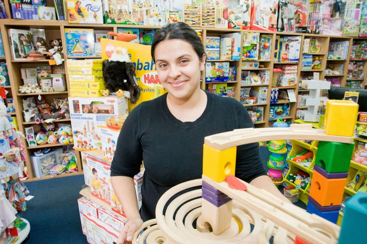 Claudia Towles is creating more space to play — and some partnerships — as she expands her toy store in Quarry Lake.