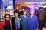 Former Hornets employees (from left) Shayla Montgomery, Cathy Montgomery, Lorrie Hatley, Emily Nantz
