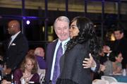 George Shinn with former director of group sales DeLisse Thomas