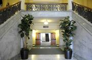 Inside the lobby of the Hall of Justice on 6th Street in downtown Sacramento.