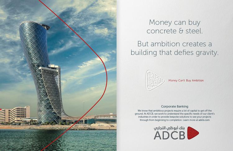 Solve created print ads for Abu Dhabi Commercial Bank's new campaign.