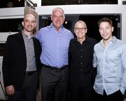 Attending Saturday's WEAVE fundraiser were Josh Hughes with PG&E; Kevin Terpstra, a contract manager with the State of California; Garry Maisel, CEO of Western Health Advantage; and Mark Ulm, a business analyst with Heathnet.