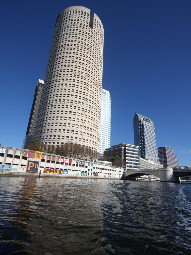 The Sykes Building as seen from the water