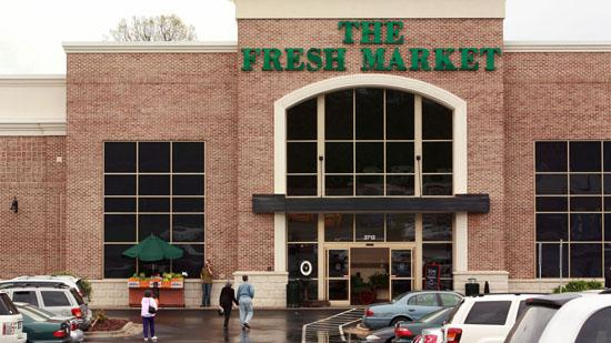 Greensboro-based specialty grocer The Fresh Market Inc. late Thursday reported first-quarter revenues of $431 million, up 17.6 percent since the year prior, while first quarter net income dropped 25.1 percent to $16.6 million from $22 million the year prior.