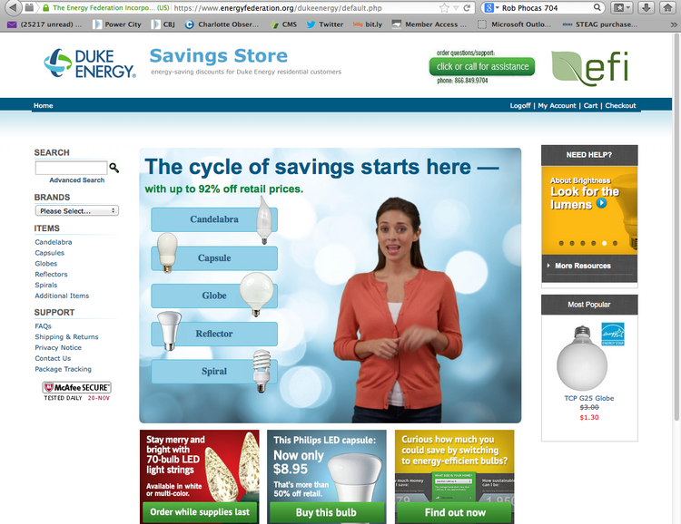 duke energy order light bulbs