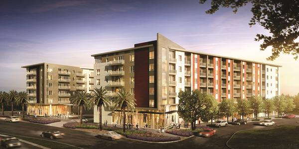 A rendering of the residential component set for the Scottsdale Quarter development. Ground was broken on the project Nov. 20.