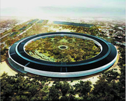 Apple's circular planned headquarters has been compared to a spaceship.