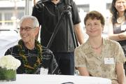 David Miller and Bettina Mehnert of Architects Hawaii Ltd. at the groundbreaking ceremony for the Symphony Honolulu mixed-use condominium project.
