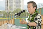 Glen Kaneshige of Nordic PCL Construction at the groundbreaking ceremony for the Symphony Honolulu mixed-use condominium project.
