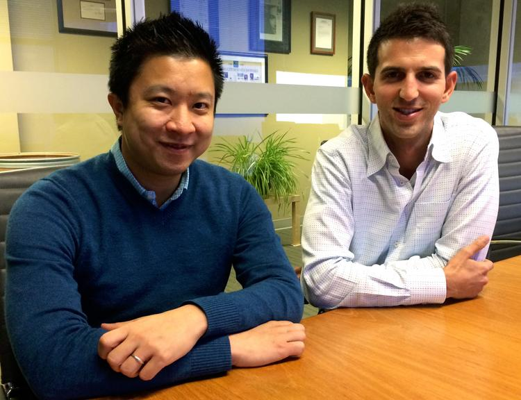 Locality, co-founded by Jay Shek, left, is the first startup that Jared Fliesler, right, has done since he left Square to be a VC at Matrix partners in March. The startup provides hours and prices on local merchants in 10,000 cities across the country.