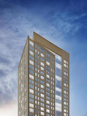 The Kensington in Boston was one of a handful of new apartment buildings that are putting downward pressure on rents is some Boston neighborhoods.