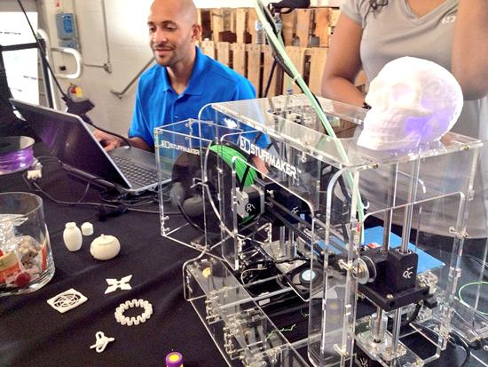 3-D printing was popular, including the exhibit by 3D Stuffmaker.