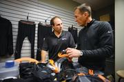 Shock doctor sports, led by CEO Tony Armand (left) and senior vice president of marketing & product development Jay Turkbas, has a product-innovation pipeline that looks five years out.