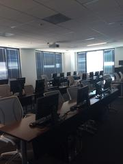Red Hat makes sure its employees upgrade their skills regularly, in training rooms like this.