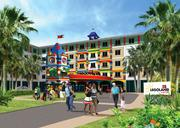 Rendering of Legoland Florida's hotel property opening in 2015