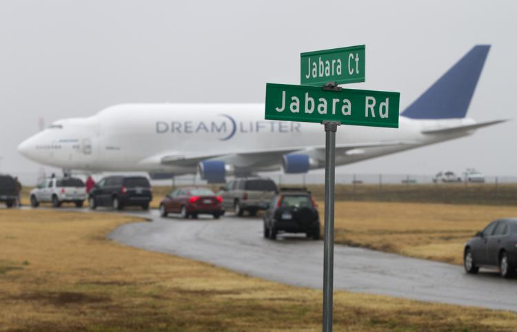 A Boeing Dreamlifter cargo plane bound for McConnell Air Force Base accidentally landed at the much smaller Jabara Airport late Wednesday night.