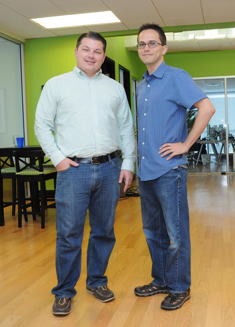 Two of Starter Studio's five founders: Dan McGaw (left) and Greg Pollack