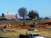 Work is underway on the Grove at Greensboro apartments. The complex is expected to be completed in August 2014.
