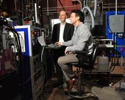 CEO Andy Marsh and Joel Beal, director of after-market support in Plug Power's test and verification lab in January. The company is coming off a year, which involved some quality issues with its product, that slowed down some purchases. Plug Power announced in December 2012 that it was laying off 22 workers.