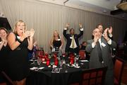 Attendees cheer for a 2013 Up & Comer.