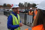 David Cochran, displays curator for Sea Life, talks to the media at the hardhat tour.