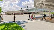The new 95th Street Station will have a very open, contemporary look.