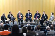 The subject of data centers was the focus of our recent CREQ Live event. Here, a panel addresses why North Carolina is seeing construction of specialized industrial buildings to house computer servers. Pictured are, from left: moderator Will Boye, Dan Flynn, Brian Noonan, Ben Rojahn, Vali Sorell, Steve Verp and Martin Walsh.