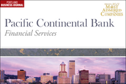 Financial Services: 10 (tie). Pacific Continental Bank