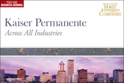 Across All Industries: 8 (tied). Kaiser Permanente