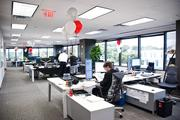 The 5,000-square-foot office space is designed to have 20 people.