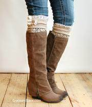 Grace and Lace makes lacey boot socks and legwarmers that are available online and through 400 stories.