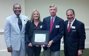 The Greater Nashville board of directors of the American Heart Association recently earned national recognition for its work saving and improving lives in the Middle Tennessee community. The prestigious Gold award recognizes the Greater Nashville board as one of the top American Heart Association boards in the country.   From left: Keith Churchwell, Kelley Tune, Clay Bright and Glen Golemi